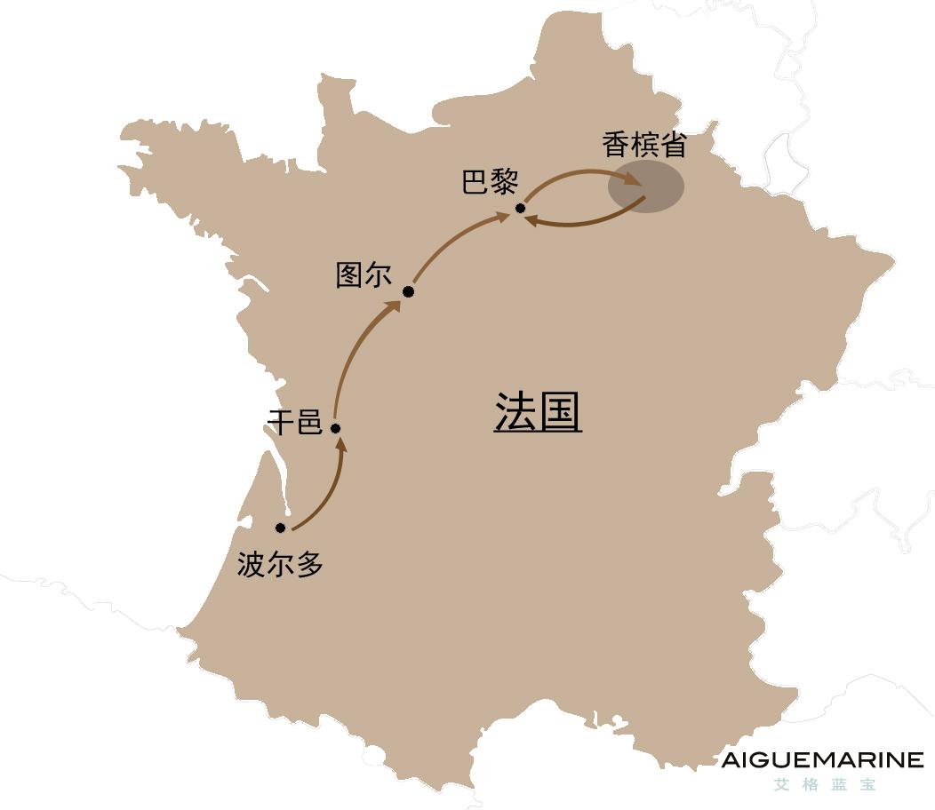 法国葡萄酒旅游路线