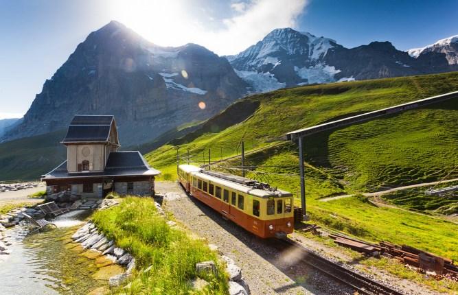 阿尔卑斯少女峰火车