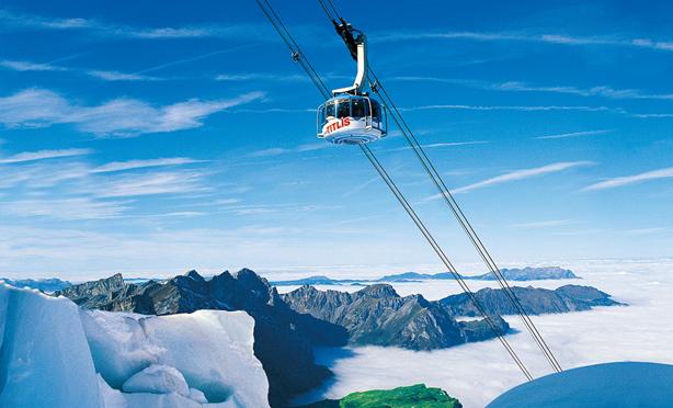 阿尔卑斯山铁力士吊车