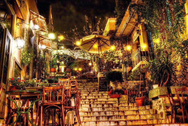希腊雅典普拉卡