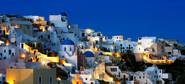 希腊罗德岛夜景