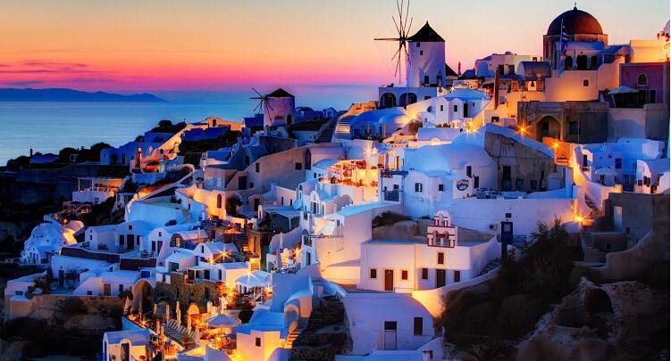 爱琴海圣托里尼岛
