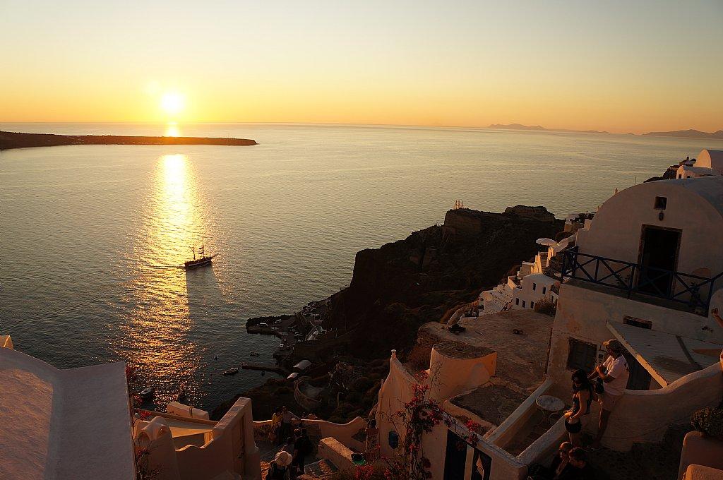 爱琴海最美日落