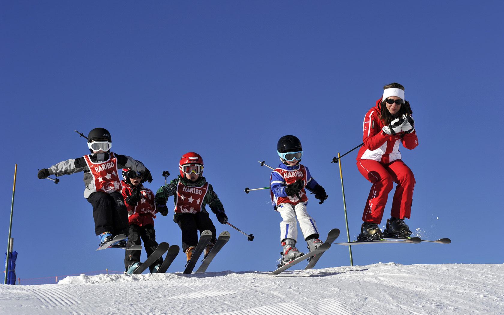 格施塔德滑雪场的孩子们