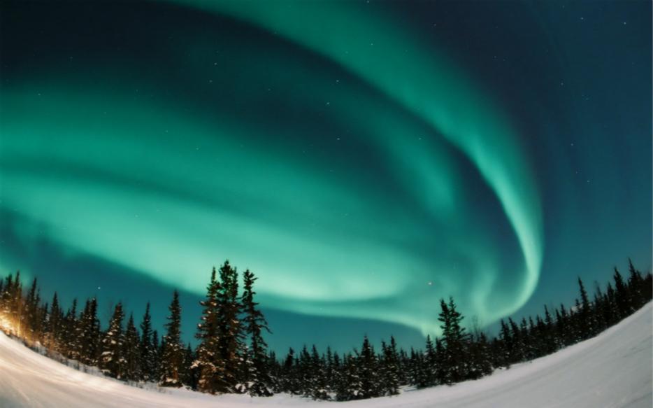 冬季北欧极光旅游