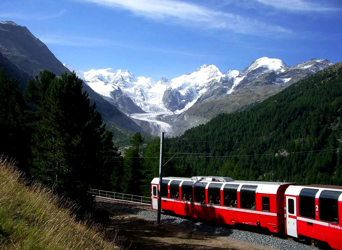 Bernina Express冬季旅游