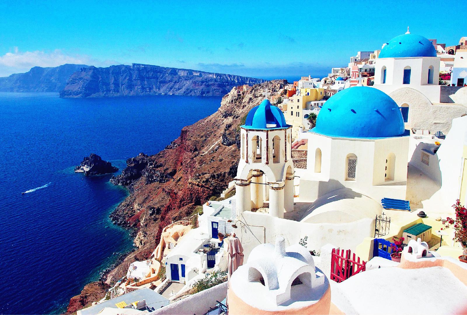 希腊浪漫旅游 旅游攻略 海岛 爱情海 圣托里尼 风景 图片 浪漫的童话国度