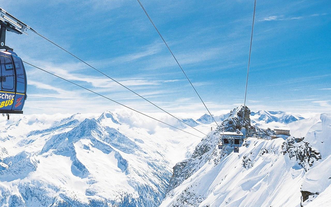 阿尔卑斯山滑雪旅游
