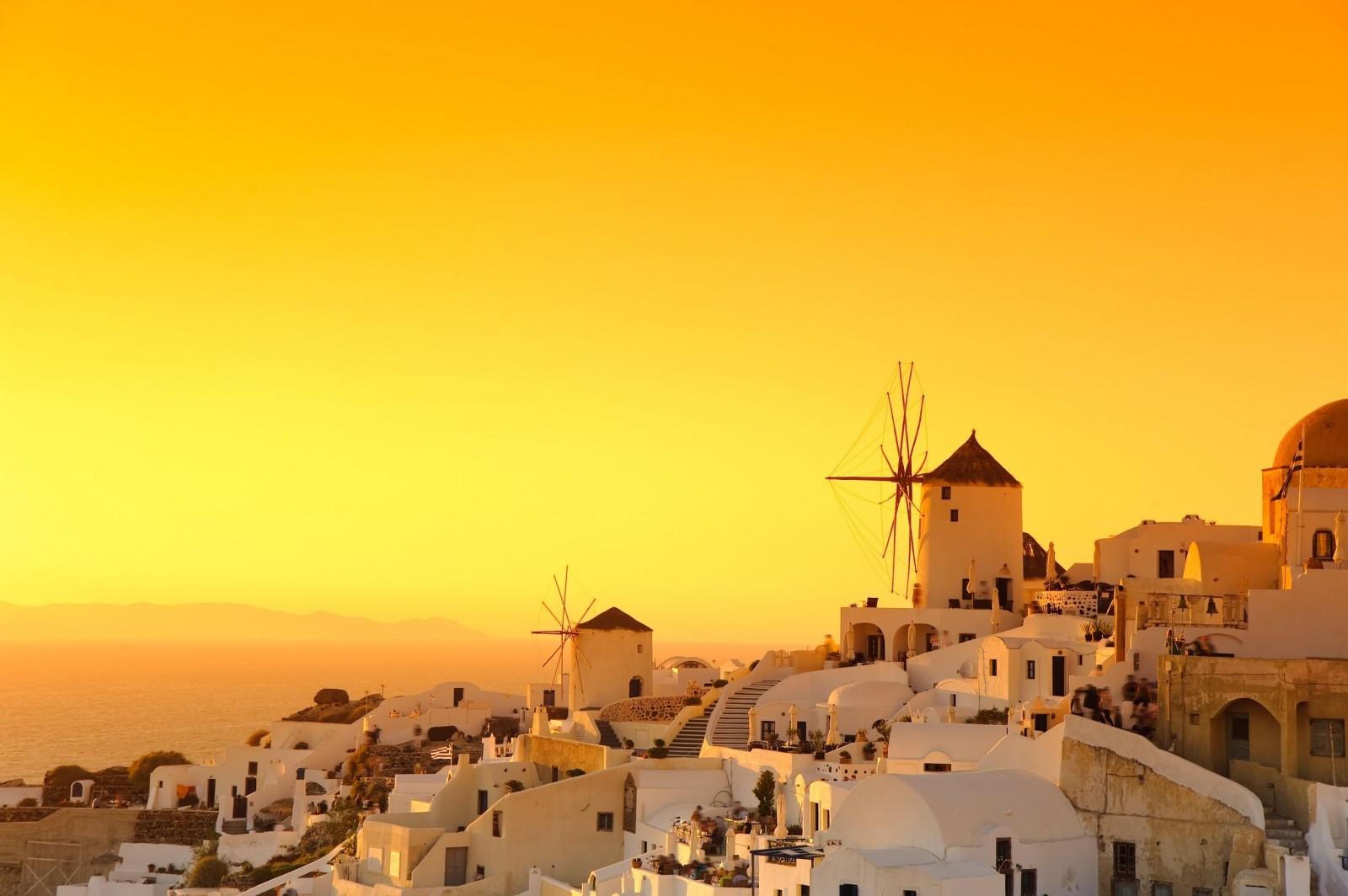 希腊伊亚小镇