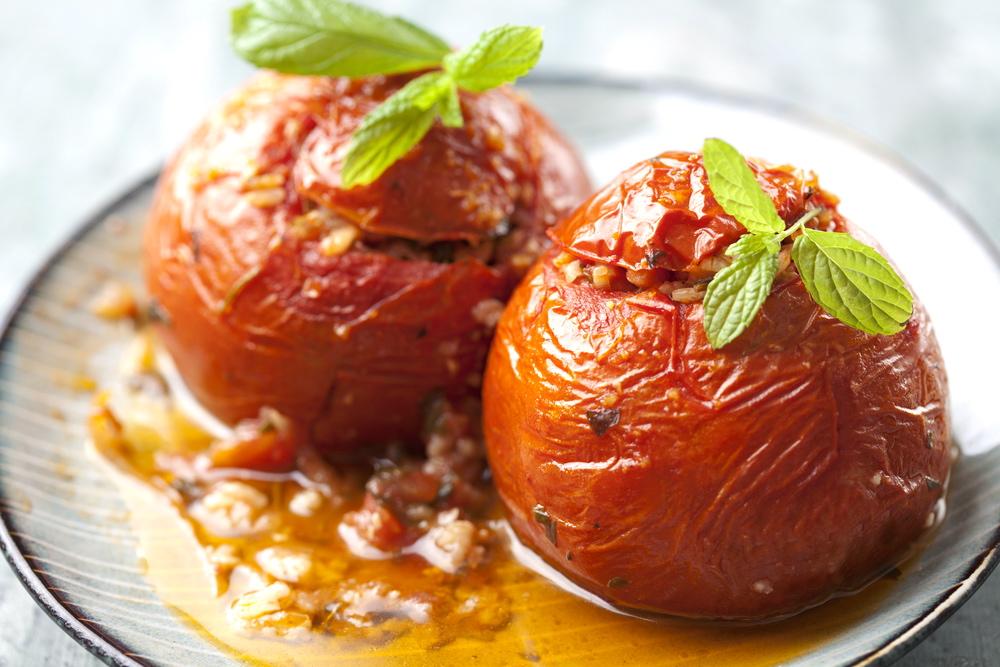 希腊美食烤西红柿