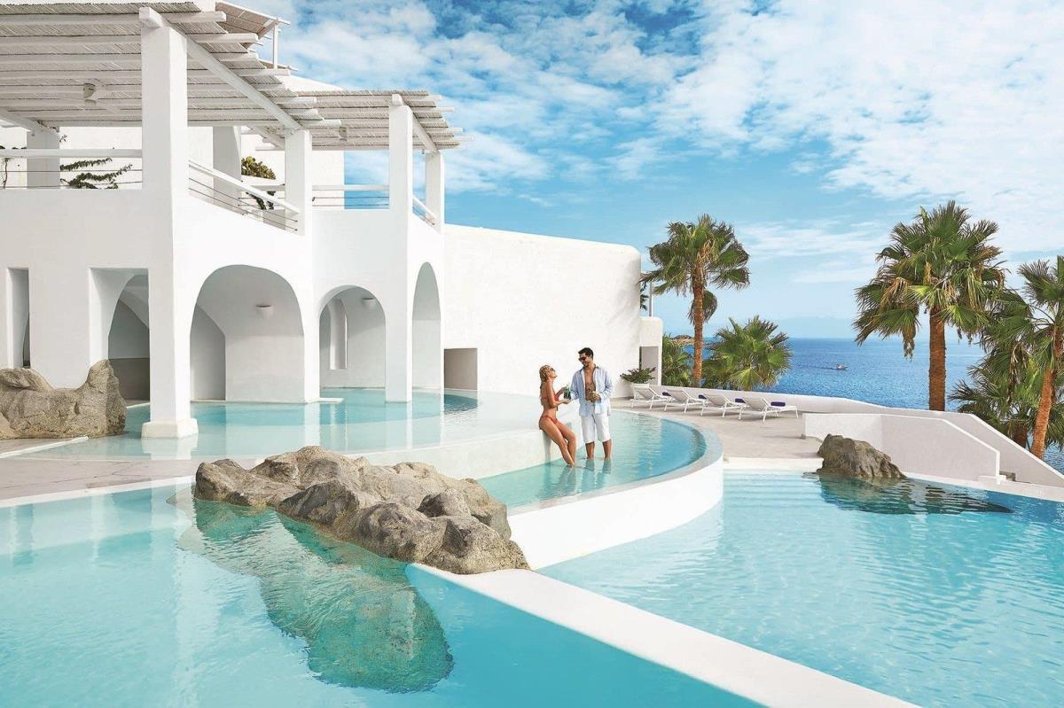 希腊爱琴海米克诺斯岛婚礼蜜月游|艾格蓝宝