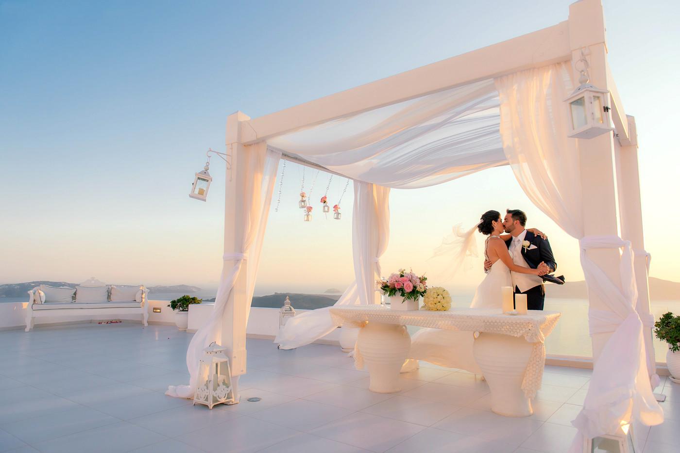 艾格蓝宝希腊圣托里尼婚礼