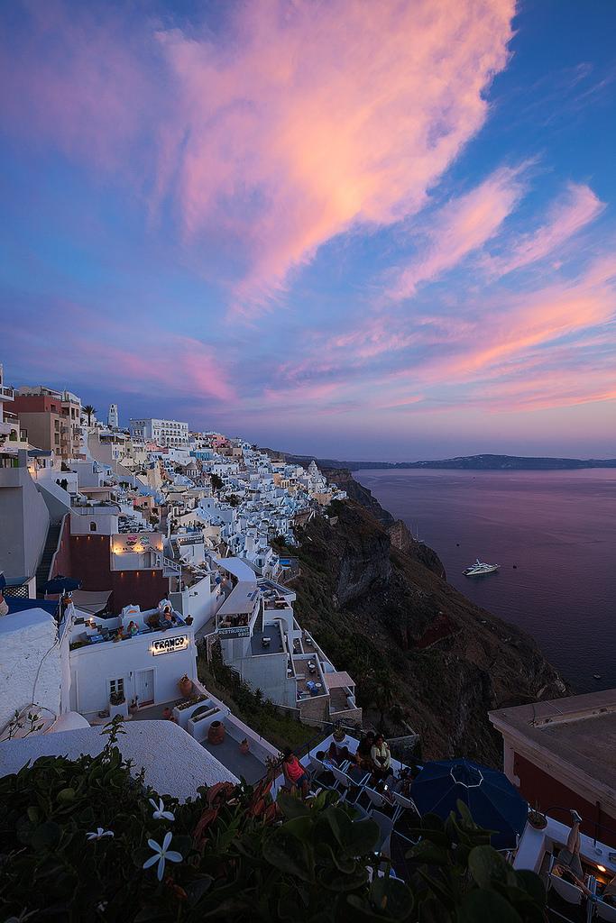 希腊圣托里尼旅游攻略 费拉小镇旅游景点 火山岛 日落